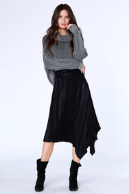 Slouchy Cropped Sweater - bobi Los Angeles