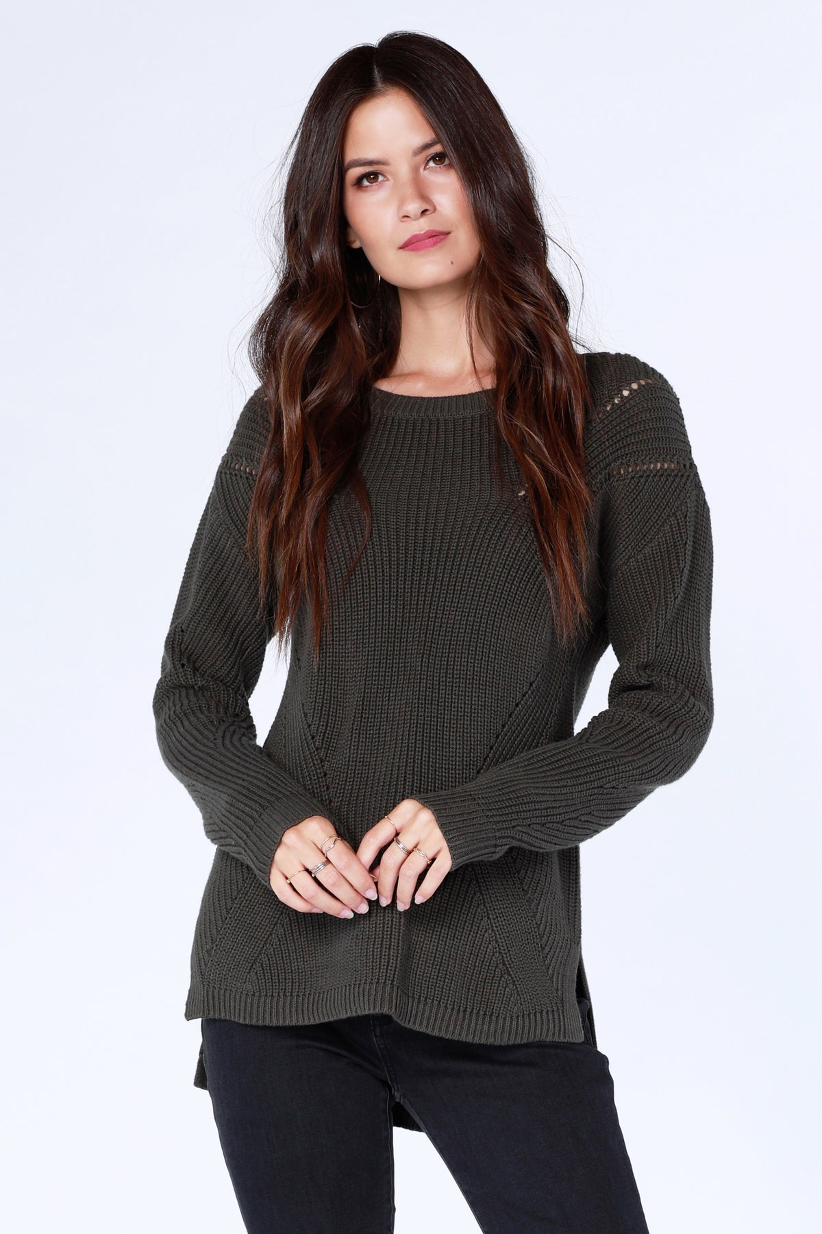 Boatneck High Low Sweater