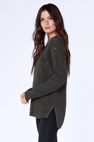 Boatneck High Low Sweater - bobi Los Angeles