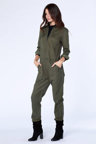 Zip-Front Utility Jumpsuit - bobi Los Angeles