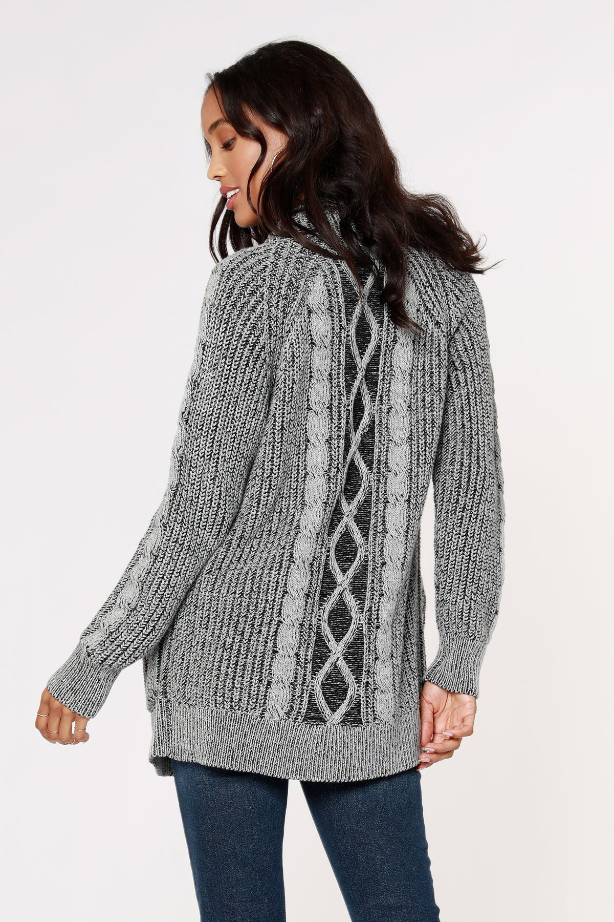 Plaited Cable Cardigan