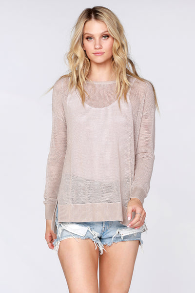 Plaited Mesh Sweater - bobi Los Angeles