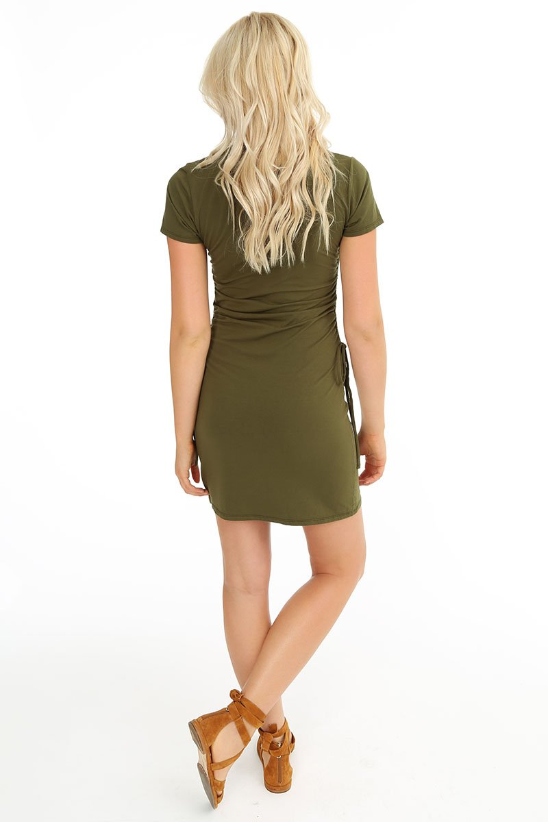 Side Tie Dress - bobi Los Angeles