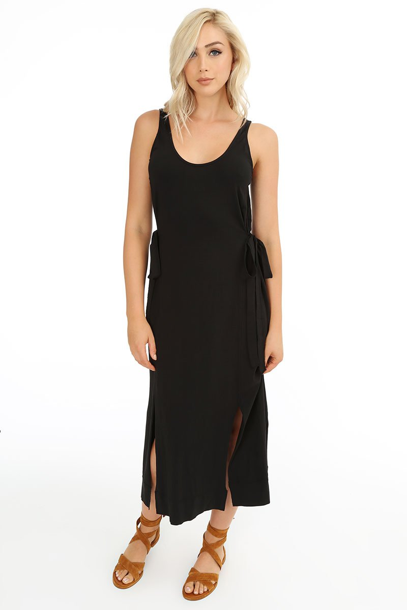 Side Tie Tank Dress - bobi Los Angeles