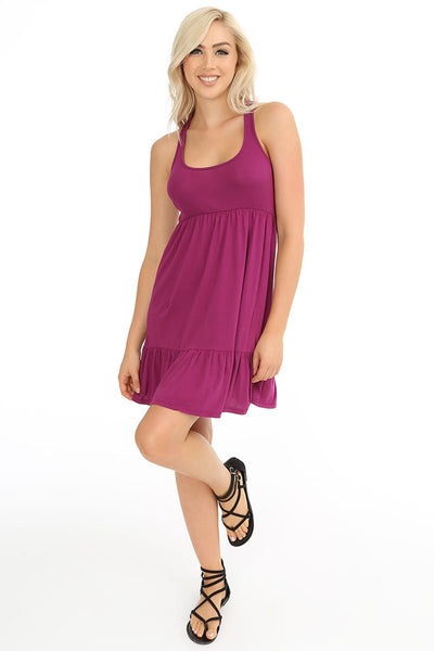 Ruffle Tiered Tank Dress - bobi Los Angeles