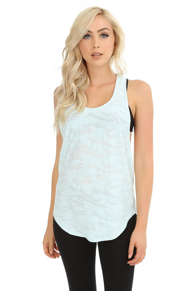 Camo Dropped Armhole Tank - bobi Los Angeles