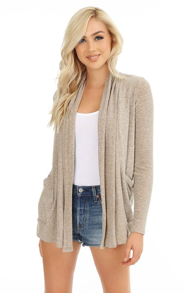 Long Sleeve Pocket Cardigan - bobi Los Angeles