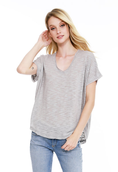 3158abcc027 V-Neck Dolman Tee - bobi Los Angeles