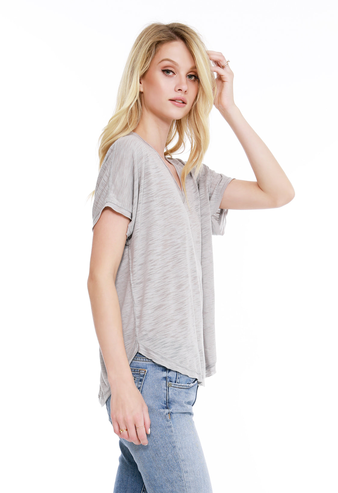 V-Neck Dolman Tee - bobi Los Angeles