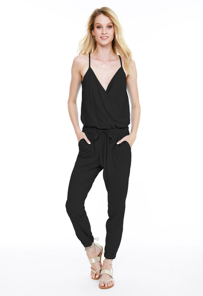 2d1b8ba2c17 Cami Surplice Jumpsuit - bobi Los Angeles