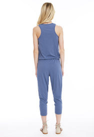 Henley Tank Jumpsuit - bobi Los Angeles