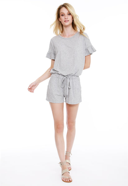 Ruffle Sleeve Romper - bobi Los Angeles
