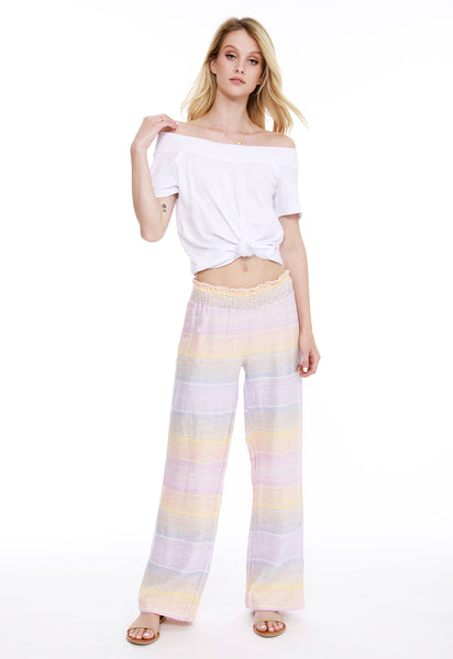 Smocked Beach Pant - bobi Los Angeles