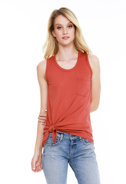 Side Tie Pocket Tank - bobi Los Angeles