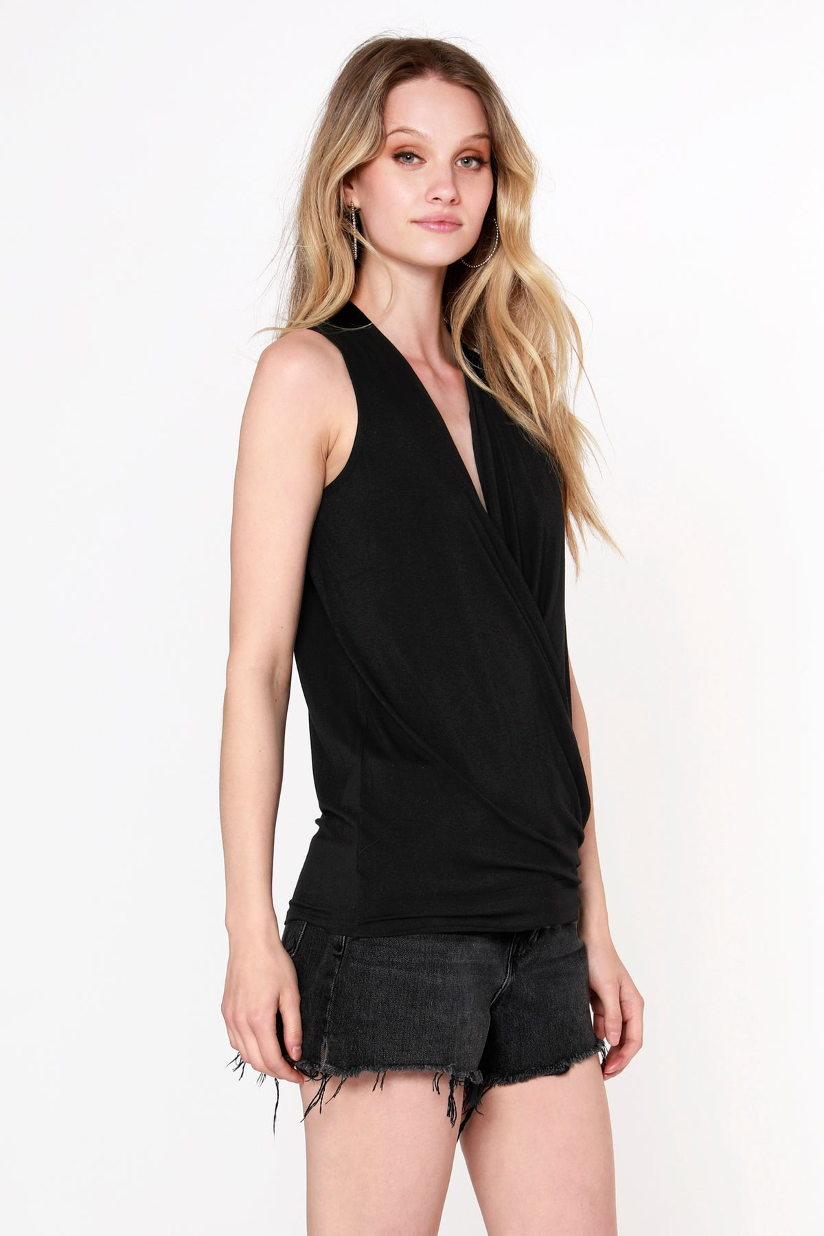 Draped Surplice Tank