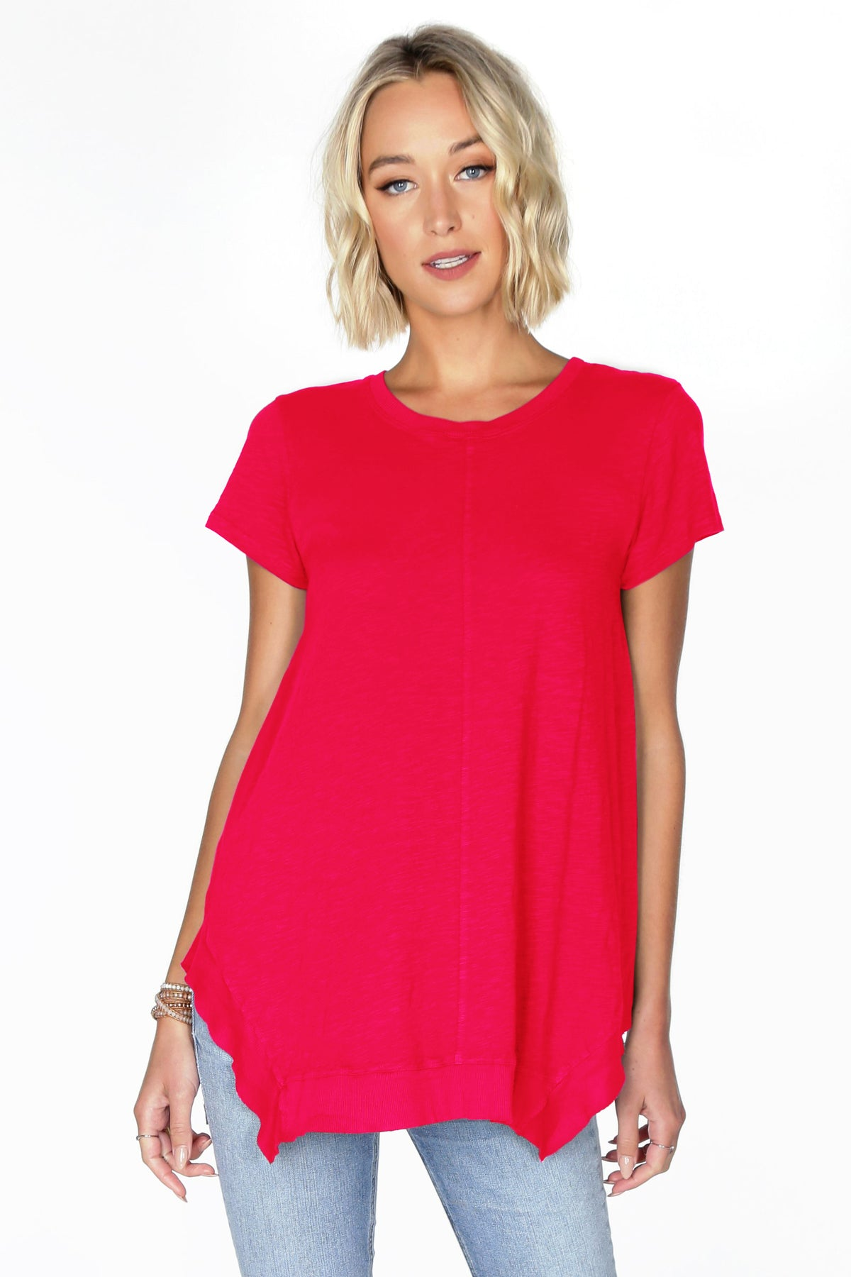 Short Sleeve Slub Tunic