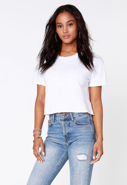Short Sleeve Cropped Tee - bobi Los Angeles