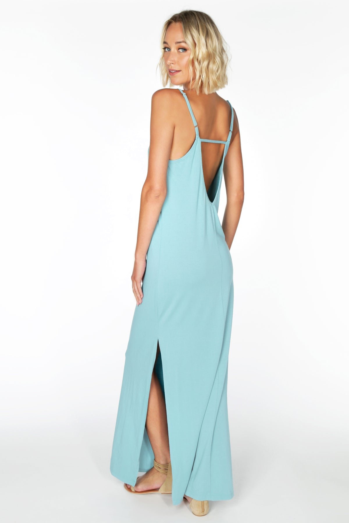 Low Back Cami Maxi Dress