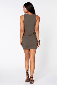 Side Shirred Tank Dress - bobi Los Angeles