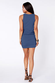 Side Shirred Tank Dress