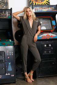 Tied Leg Surpice Jumpsuit - bobi Los Angeles