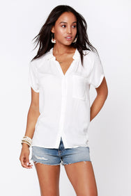 Short Sleeve Button Front Shirt - bobi Los Angeles