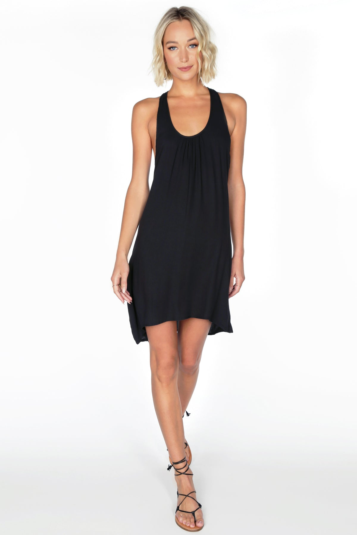 Crepe Tank Dress - bobi Los Angeles