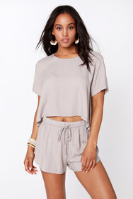 Short Sleeve Crop Top - bobi Los Angeles