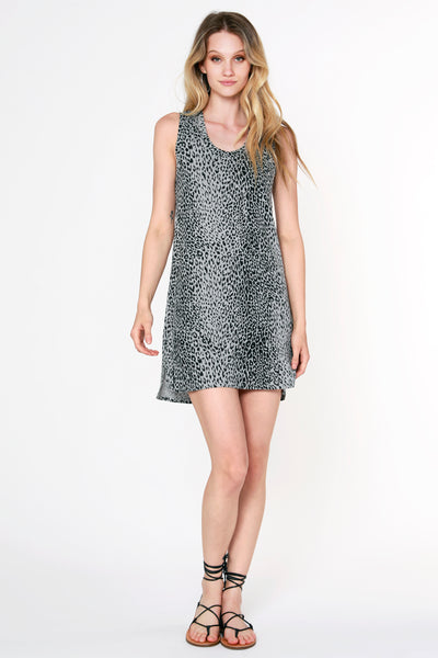 Leopard Slub Tank Dress