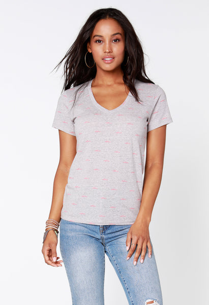 California V-Neck Tee - bobi Los Angeles