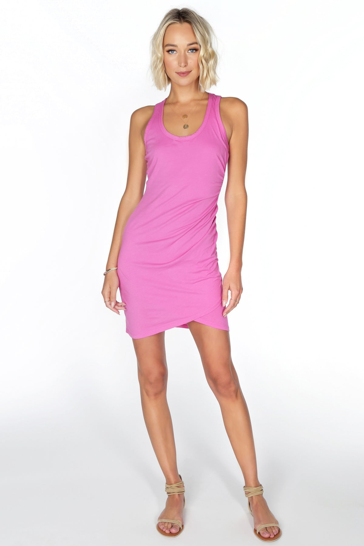 Surplice Tank Dress - bobi Los Angeles