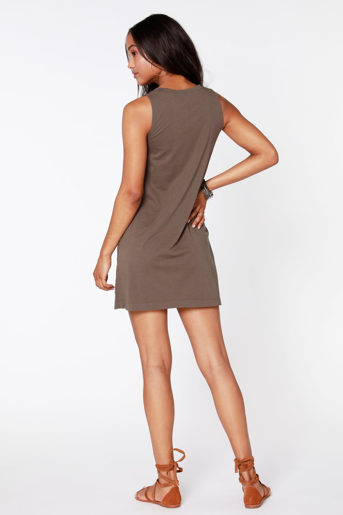 V-Neck Tank Dress - bobi Los Angeles