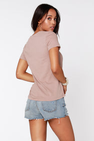 Short Sleeve Wrap Top - bobi Los Angeles