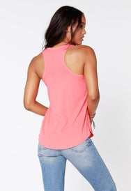Curved Hem Tank - bobi Los Angeles