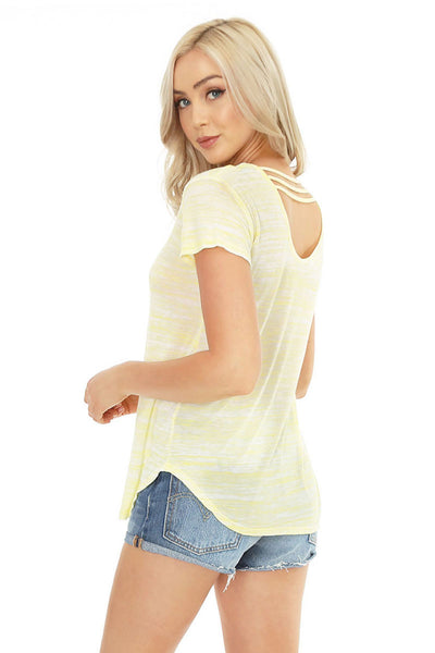 Strappy Back Short Sleeve Tee - bobi Los Angeles