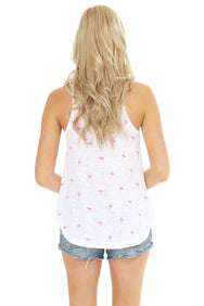 Flamingo Print Swing Tank - bobi Los Angeles