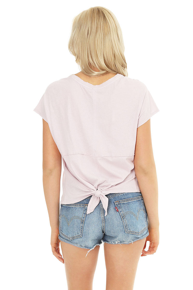 Back Tie Dolman Tee - bobi Los Angeles