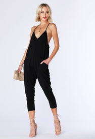 Dropped Armhole Racerback Jumpsuit - bobi Los Angeles