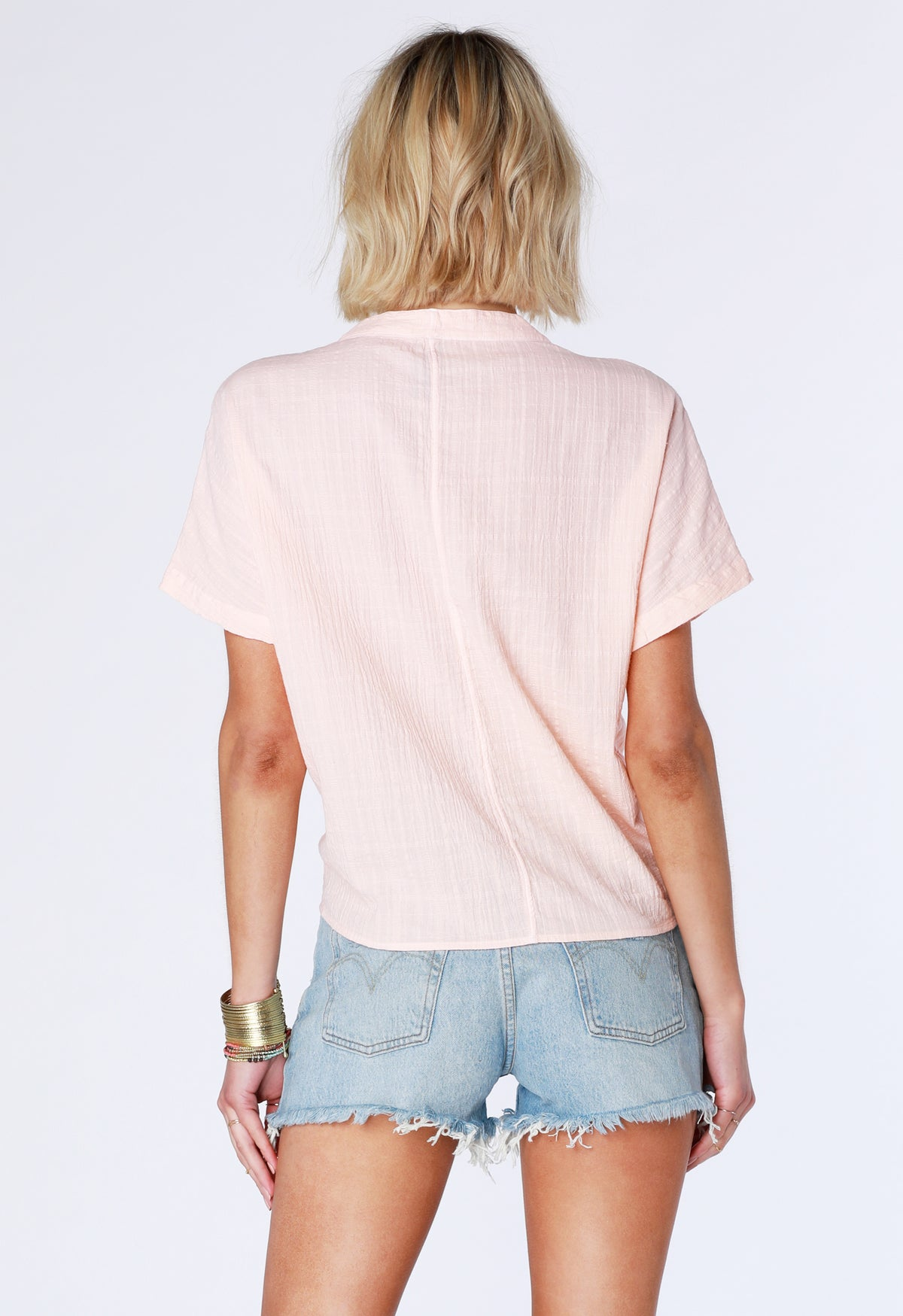 Woven Tie Hem Top - bobi Los Angeles