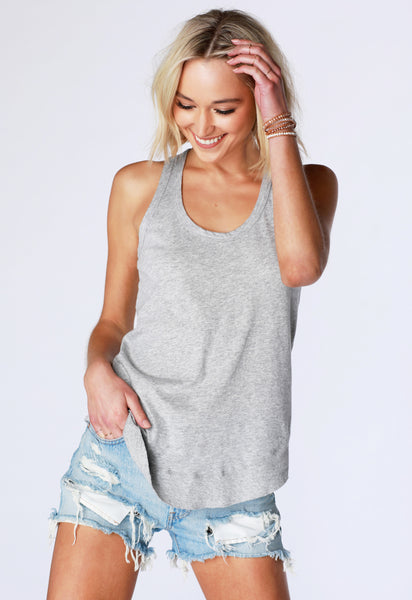 Curved Hem Rib Tank - bobi Los Angeles