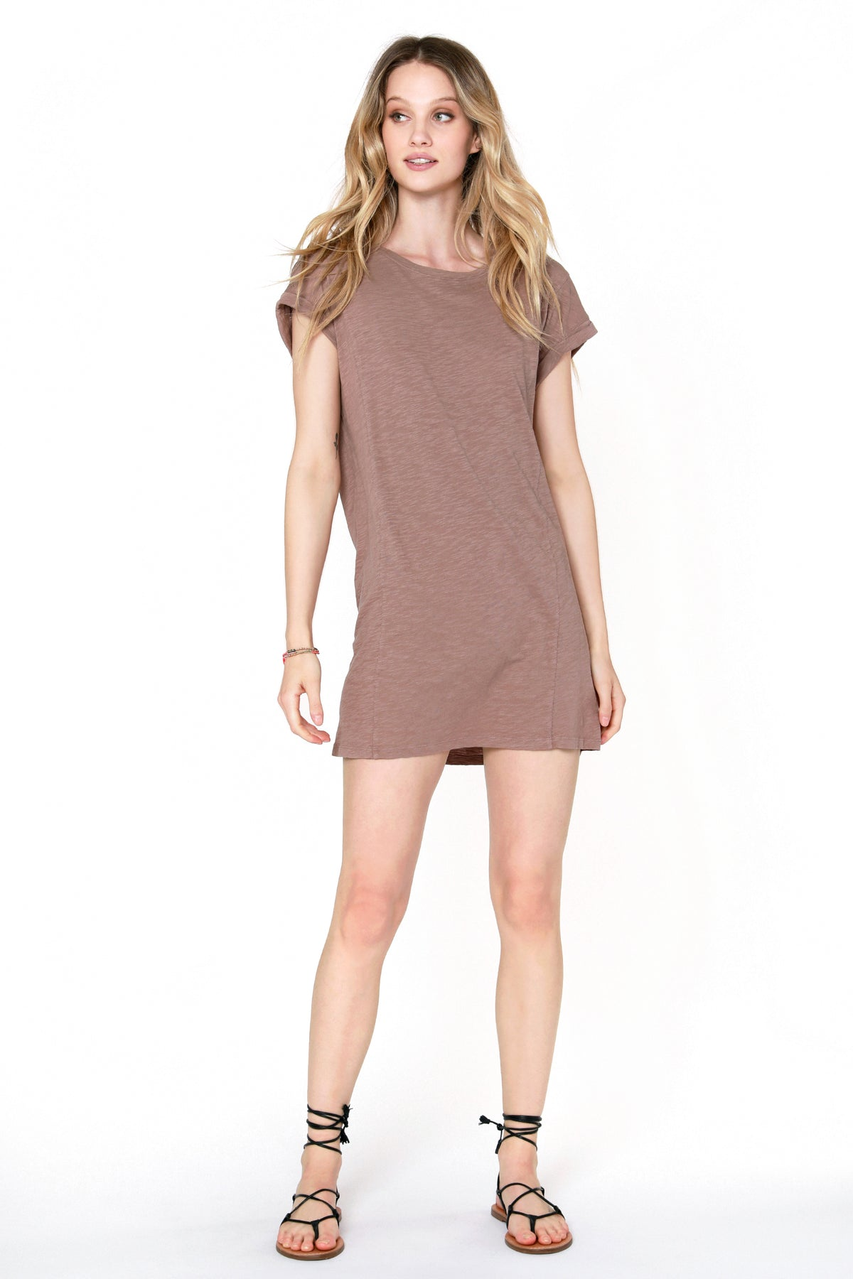 Dolman Roll Sleeve Dress