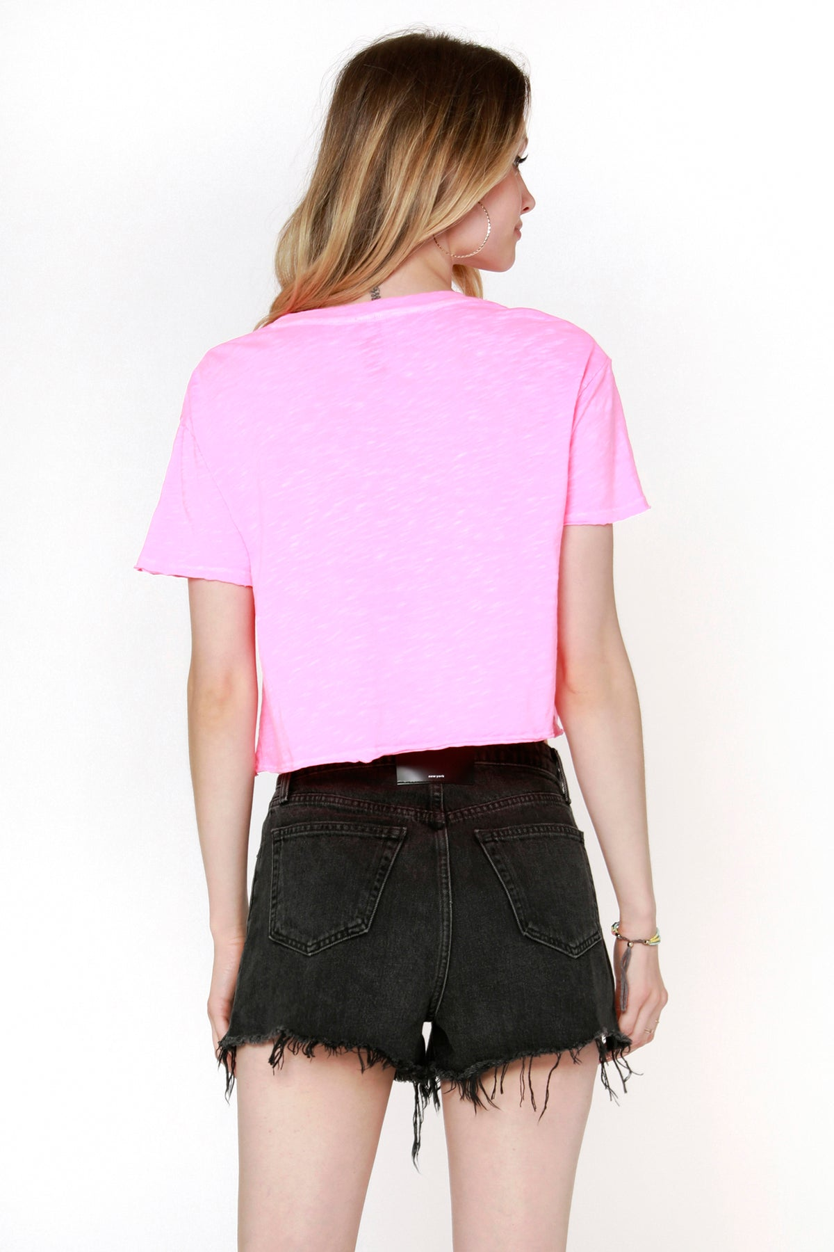 Crewneck Crop Pocket Tee