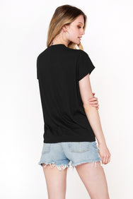 Shirred Front Tee