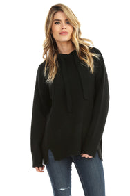 Cashmere Mix Hooded Sweater - bobi Los Angeles