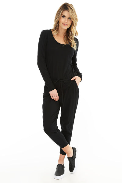 V-Neck Pocket Jumpsuit - bobi Los Angeles