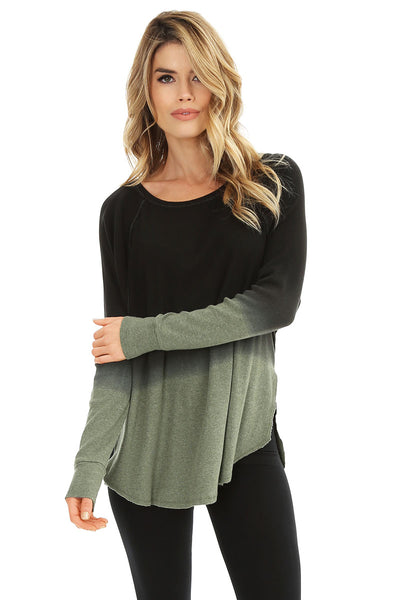 Ombre Raglan Top - bobi Los Angeles