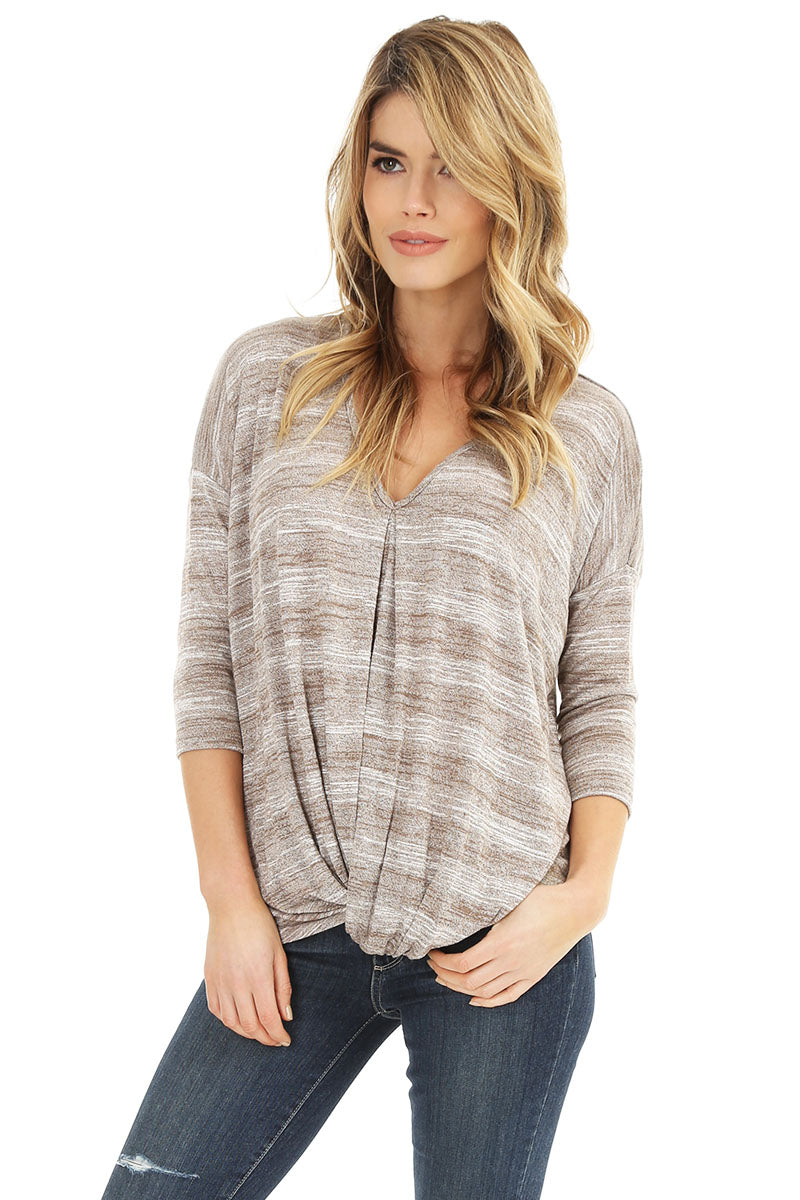 V-Neck Knot Top - bobi Los Angeles