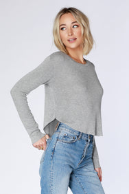 Long Sleeve Cropped Tee - bobi Los Angeles