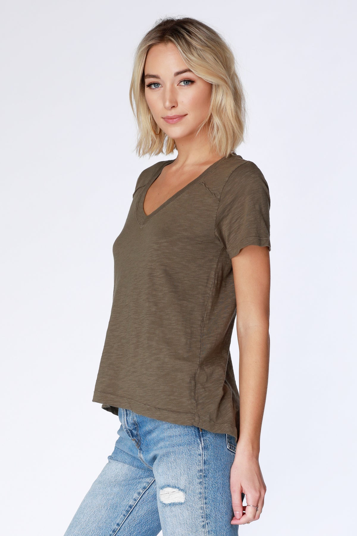 Short Sleeve V-Neck - bobi Los Angeles