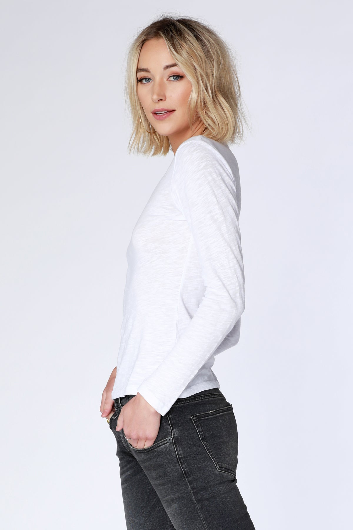 Long Sleeve Slub Tee - bobi Los Angeles